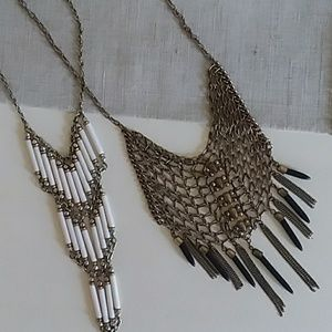 Edgy two necklace bundle